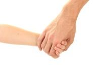 main dans la main papa